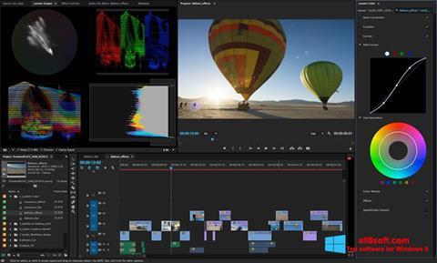 Снимка на екрана Adobe Premiere Pro за Windows 8
