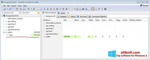 Снимка на екрана HeidiSQL за Windows 8