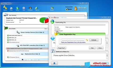 Снимка на екрана Driver Detective за Windows 8