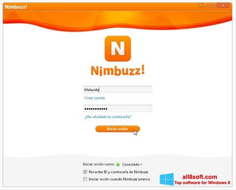 Снимка на екрана Nimbuzz за Windows 8