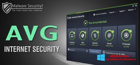 Снимка на екрана AVG Internet Security за Windows 8