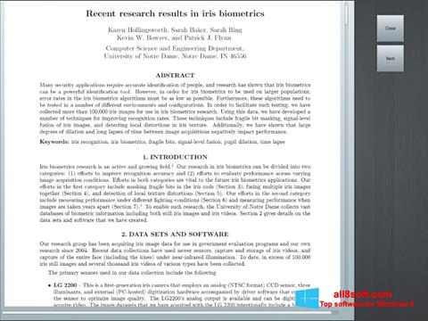 Снимка на екрана Doc Viewer за Windows 8