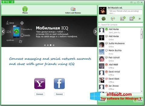 Снимка на екрана ICQ за Windows 8