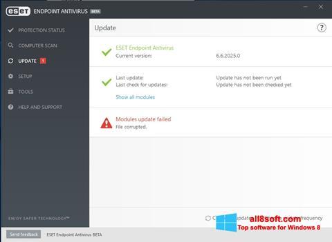 Снимка на екрана ESET Endpoint Antivirus за Windows 8