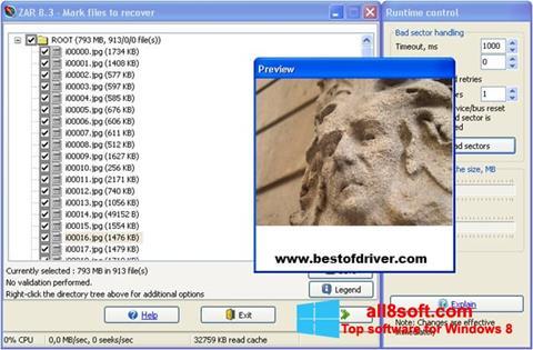 Снимка на екрана Zero Assumption Recovery за Windows 8