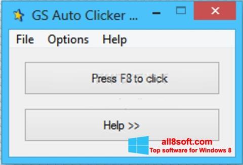 Снимка на екрана GS Auto Clicker за Windows 8