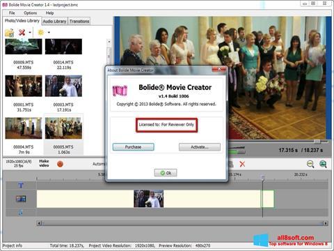 Снимка на екрана Bolide Movie Creator за Windows 8