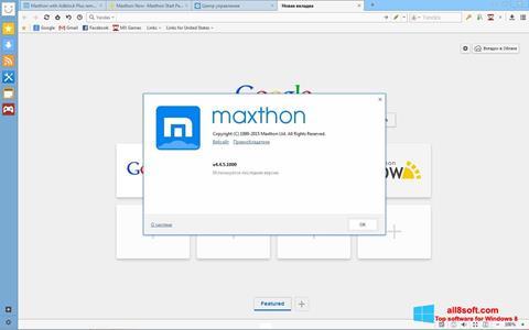 Снимка на екрана Maxthon за Windows 8