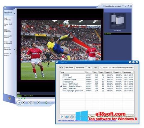 Снимка на екрана SopCast за Windows 8