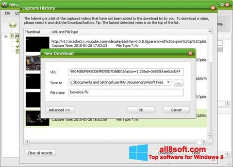 Снимка на екрана Free Video Catcher за Windows 8