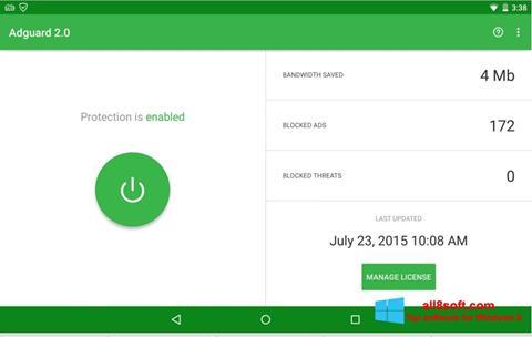 Снимка на екрана Adguard за Windows 8