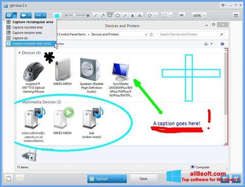 Снимка на екрана QIP Shot за Windows 8