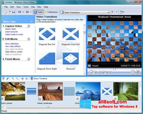 Снимка на екрана Windows Movie Maker за Windows 8