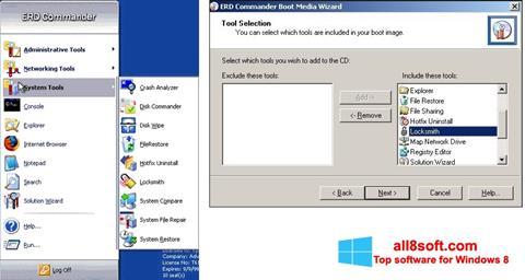 Снимка на екрана ERD Commander за Windows 8