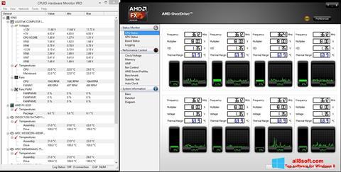 Снимка на екрана AMD Overdrive за Windows 8