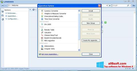 Снимка на екрана Lingoes за Windows 8