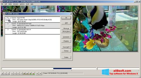 Снимка на екрана VirtualDubMod за Windows 8