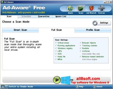 Снимка на екрана Ad-Aware Free за Windows 8