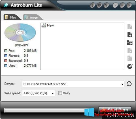 Снимка на екрана Astroburn Lite за Windows 8