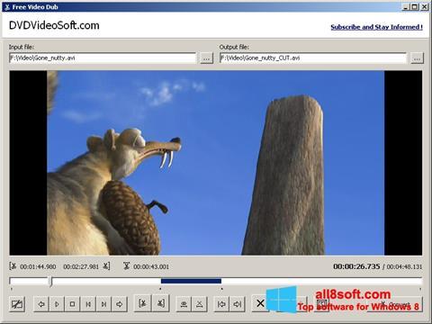 Снимка на екрана Free Video Dub за Windows 8