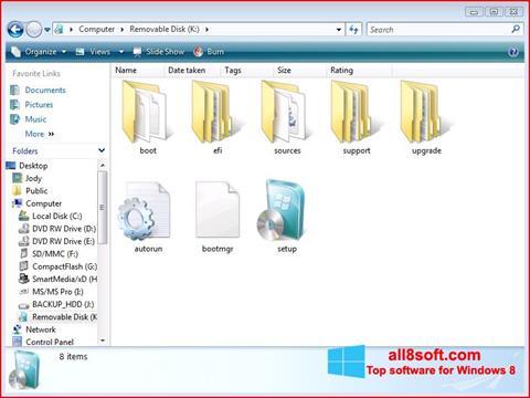 Снимка на екрана Windows 7 USB DVD Download Tool за Windows 8