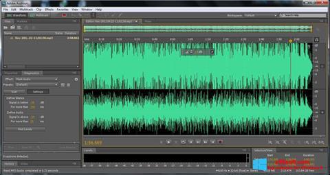 Снимка на екрана Adobe Audition за Windows 8