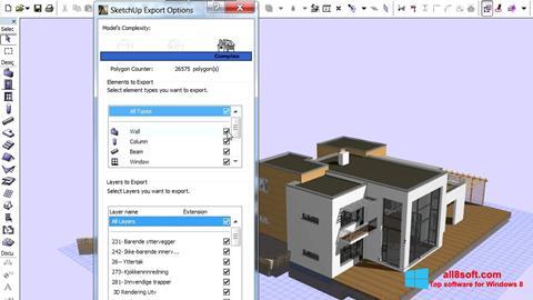 Снимка на екрана ArchiCAD за Windows 8