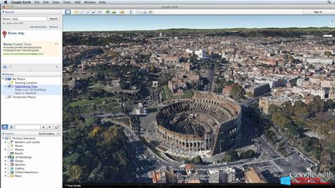 Снимка на екрана Google Earth Pro за Windows 8
