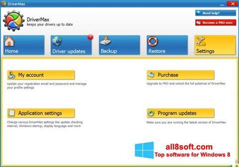 Снимка на екрана DriverMax за Windows 8