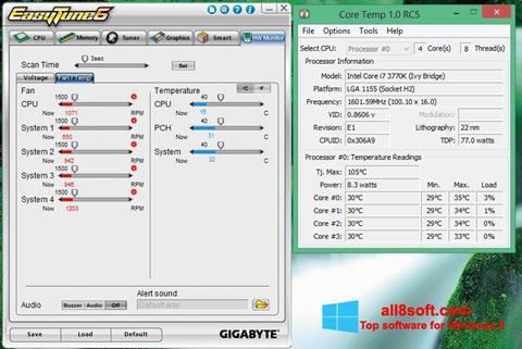 Снимка на екрана EasyTune за Windows 8