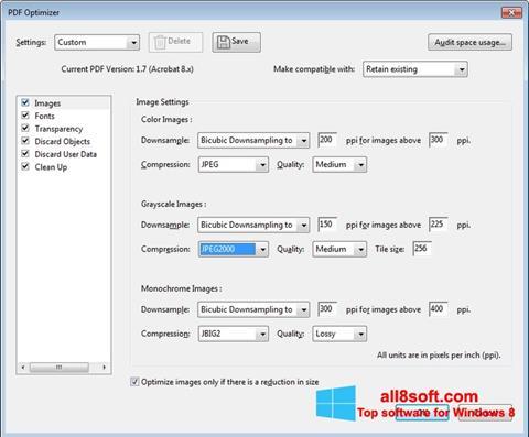 Снимка на екрана Adobe Acrobat Pro DC за Windows 8