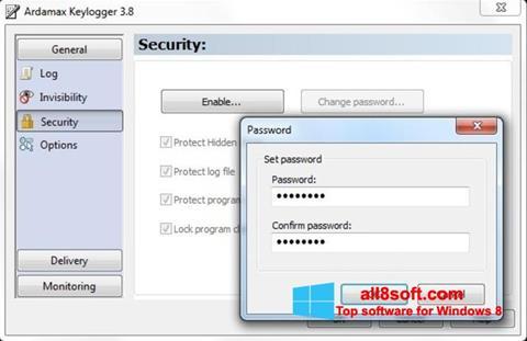 Снимка на екрана Ardamax Keylogger за Windows 8
