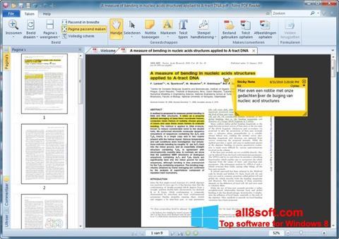 Снимка на екрана Nitro PDF Reader за Windows 8