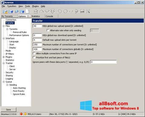 Снимка на екрана Vuze за Windows 8