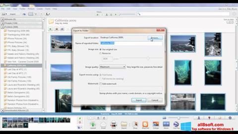 Снимка на екрана Picasa за Windows 8