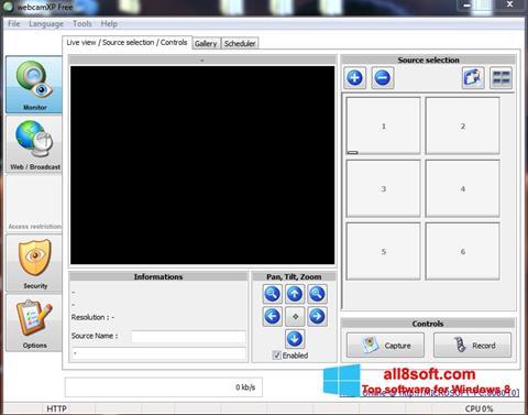 Снимка на екрана webcamXP за Windows 8