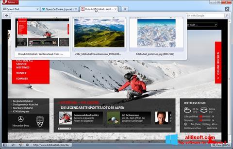 Снимка на екрана Opera за Windows 8
