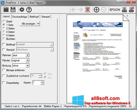 Снимка на екрана FinePrint за Windows 8