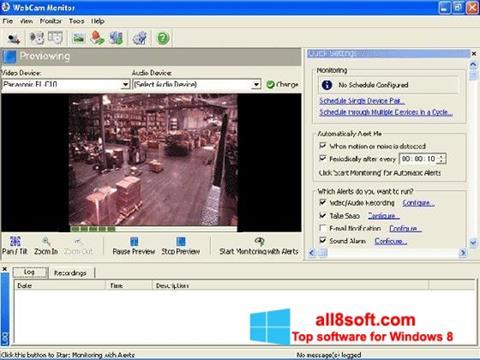 Снимка на екрана WebCam Monitor за Windows 8