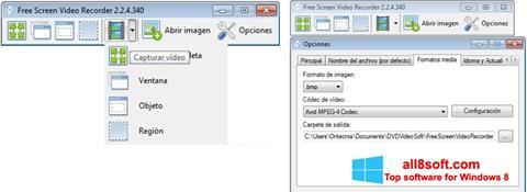 Снимка на екрана Free Screen Video Recorder за Windows 8