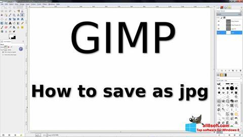 Снимка на екрана GIMP за Windows 8