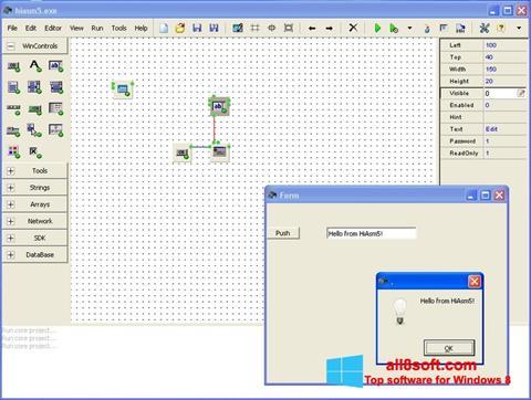 Снимка на екрана HiAsm за Windows 8