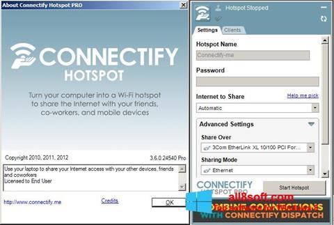 Снимка на екрана Connectify Pro за Windows 8