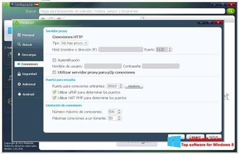 Снимка на екрана MediaGet за Windows 8