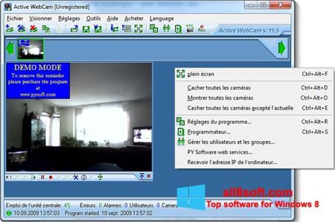 Снимка на екрана Active WebCam за Windows 8