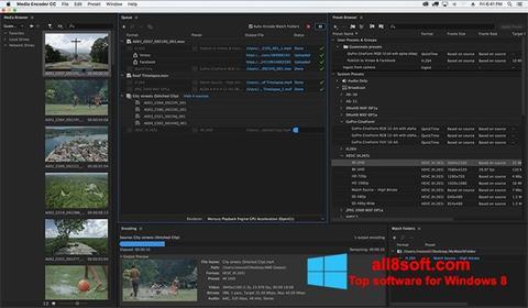 Снимка на екрана Adobe Media Encoder за Windows 8