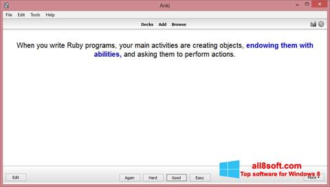 Снимка на екрана Anki за Windows 8