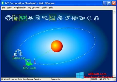 Снимка на екрана BlueSoleil за Windows 8
