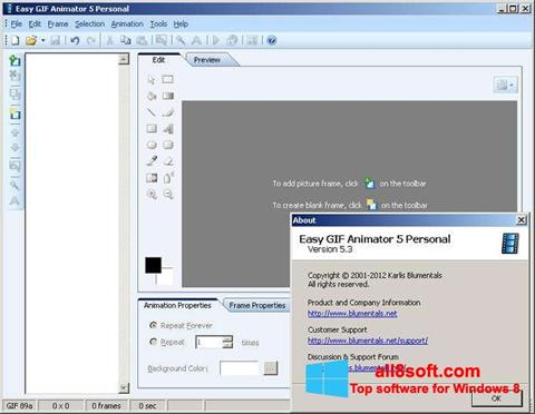 Снимка на екрана Easy GIF Animator за Windows 8