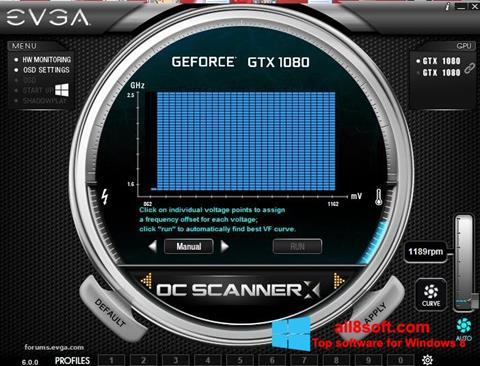 Снимка на екрана EVGA Precision за Windows 8